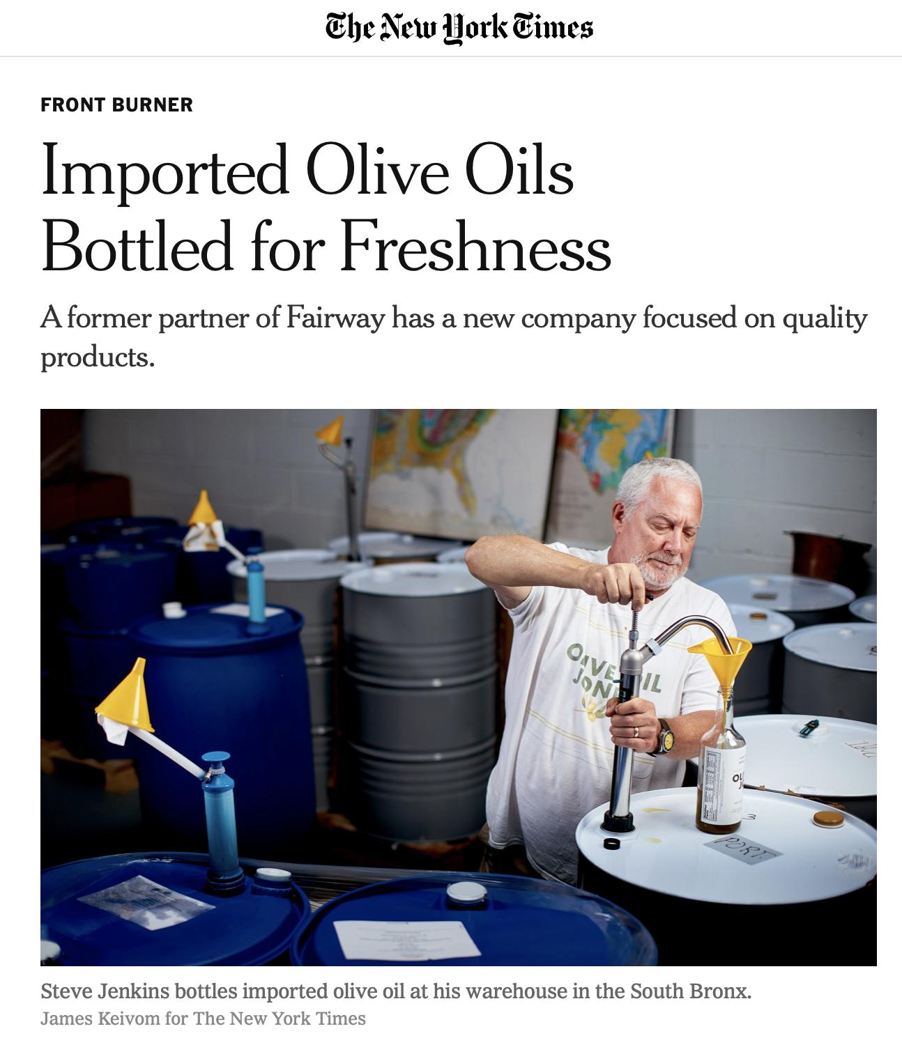 imported Olive Oils Bottled for Freshness