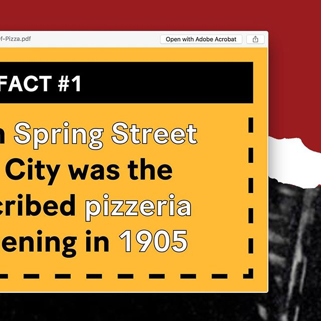 "Pizza Fact #1: Lombardi's is the first self-described pizzeria in the United States. They opened in 1905 and painted the word ""PIZZERIA"" on the window. There is no known evidence of this happening before they did it...so technically they're America's first Pizzeria! Interestingly enough, there were lots of bakeries who were making pizza at the time, but were not calling themselves pizzerias. #pizza #museumofpizza #MoPi #nyc"