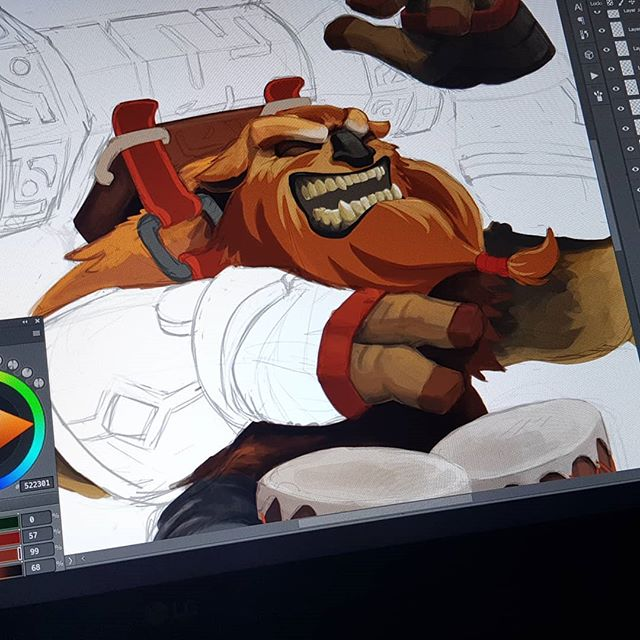 While waiting for #TI8 day 2. #illustration #workinprogress