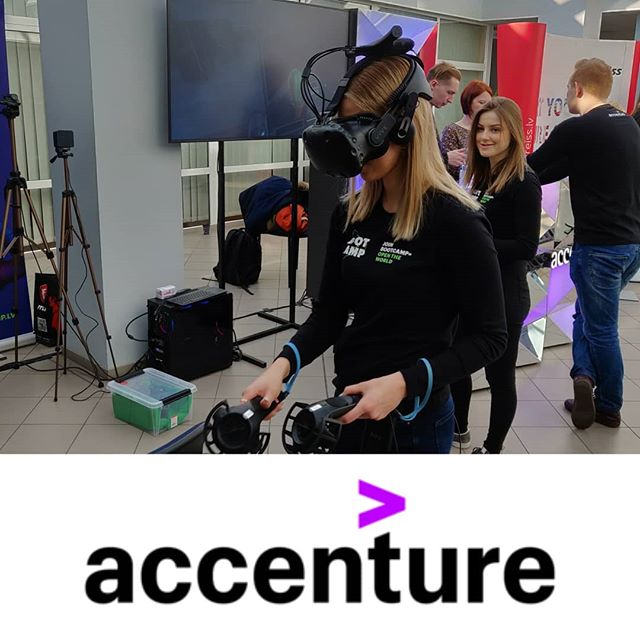 JOIN ACCENTURE BOOTCAMPS! Intensive 4 weeks long training and hands on experience during summer.  Proud to partner for the 4th time with Accenture, the world leading management consulting firm.  Bringing a vision of future tech with virtual reality.  #accenture #portalsvrarcade #riga