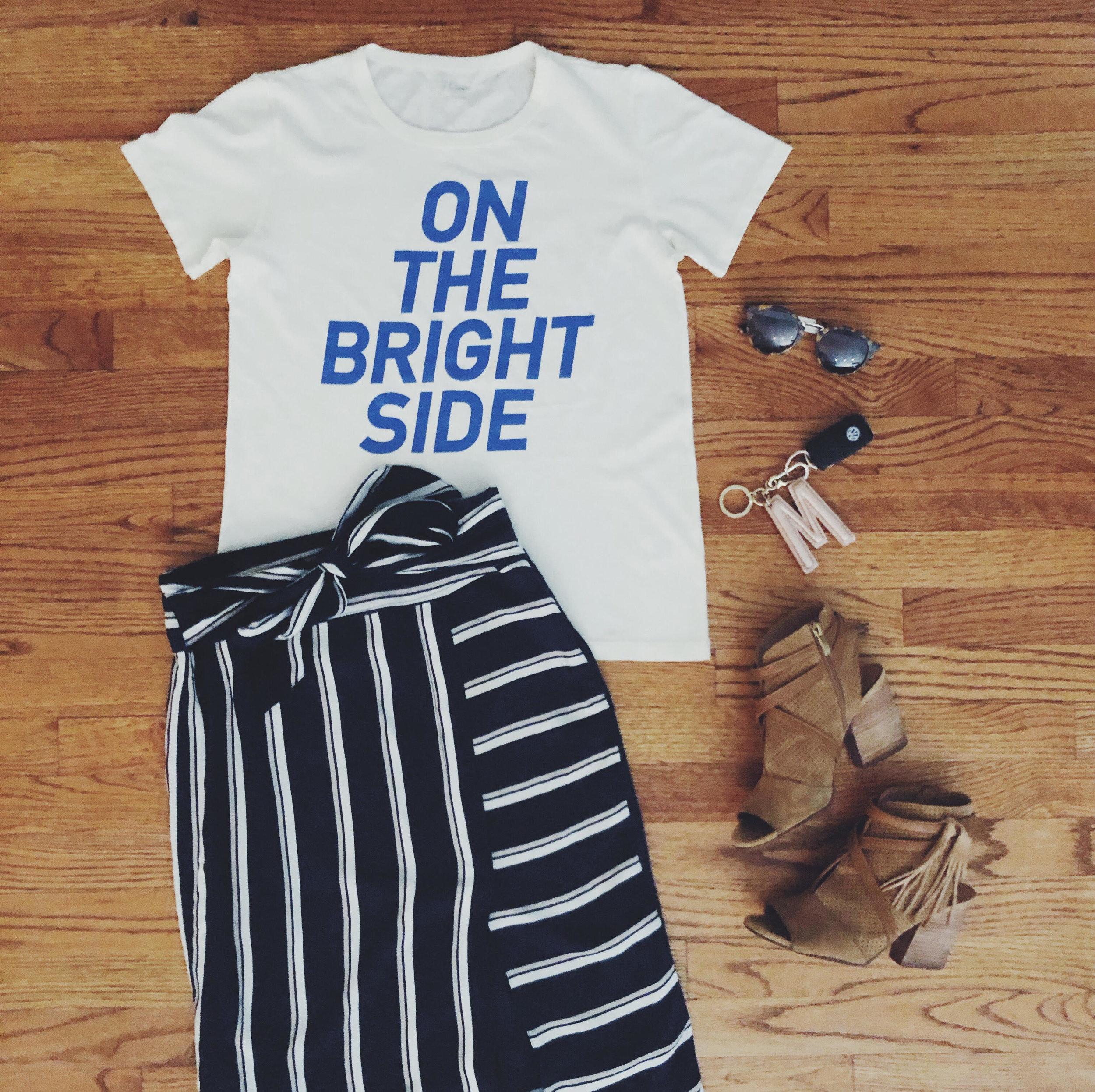 T-Shirt:  JCrew , Skirt:  Primp , Shoes: DSW