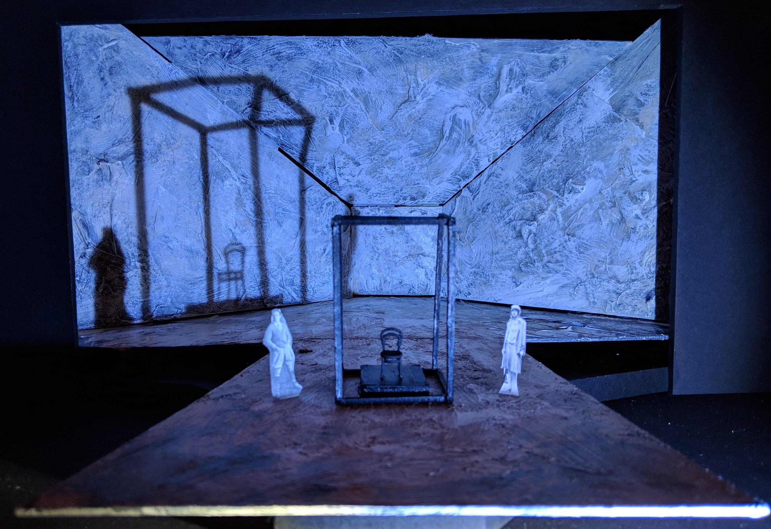 Episode Nine: A Machine - The box motif is carried throughout the play and is ultimately where Young Woman is executed.