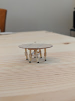 Dropped leaf table