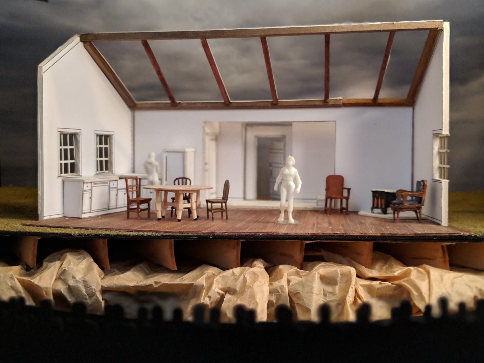 White model built by Josie Everett