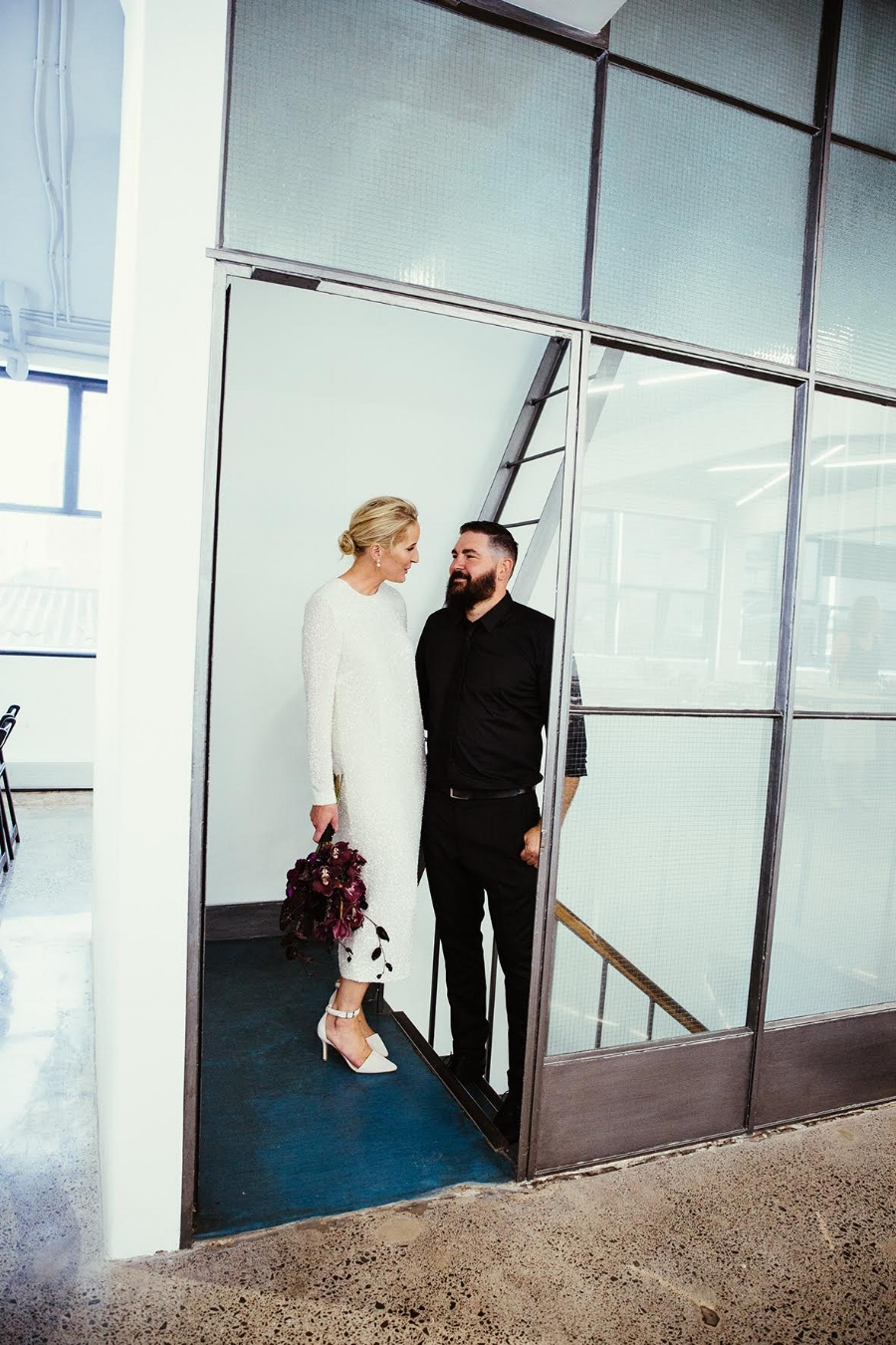 Juliette Hogan and Husband Dion on their wedding day - Image Olivia Hemus
