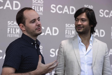 (L-R) , Don't Be Nice Director Max Powers and Producer Nikhil Melnechuk on the red carpet at the SCAD Savannah Film Festival.