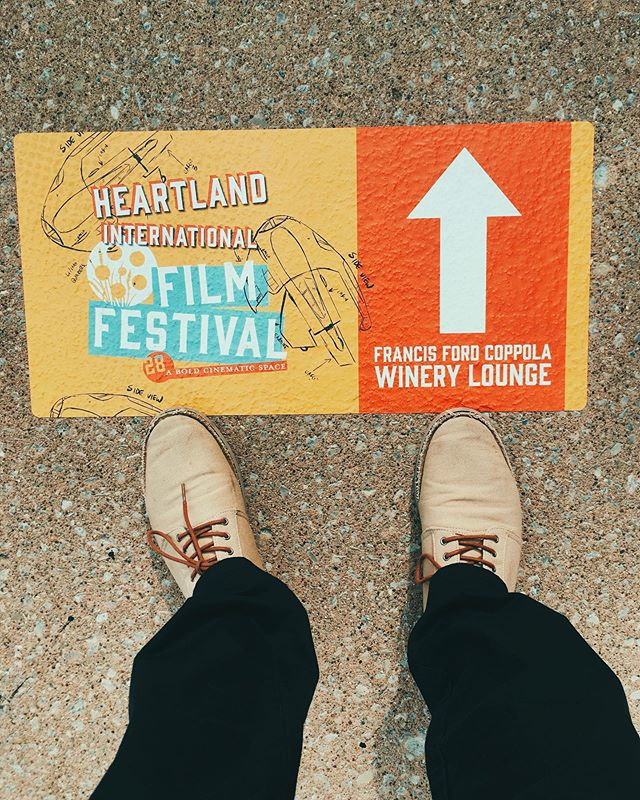 We're here @heartlandfilm, just following the signs to @coppolawine... come see #DONTBENICEmovie at 10:20am Friday, Oct. 11th & 5:15pm Saturday, Oct. 19th. #heartlandfilmfestival #DONTBENICE