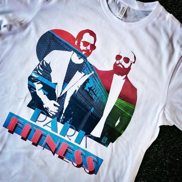 Custom T-shirt design for Park Fitness.
