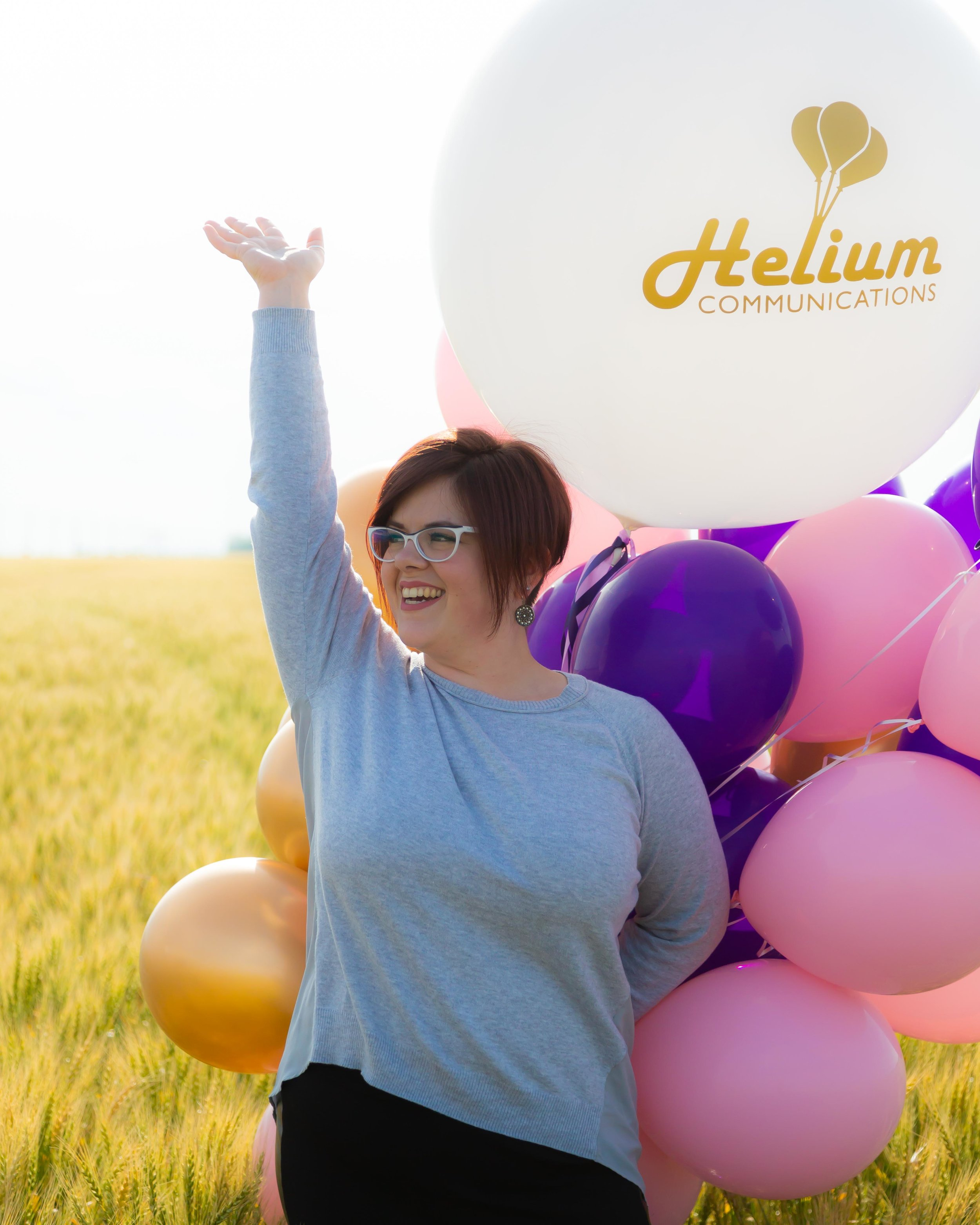 "Surprise! - Helium Communications is a one-woman shop! Did all the ""we"" talk fool you?But don't worry, I have a contact list stacked with other fun and talented people who do great work. From graphic designers to web developers, if your project needs more than just me, we really do have you covered."