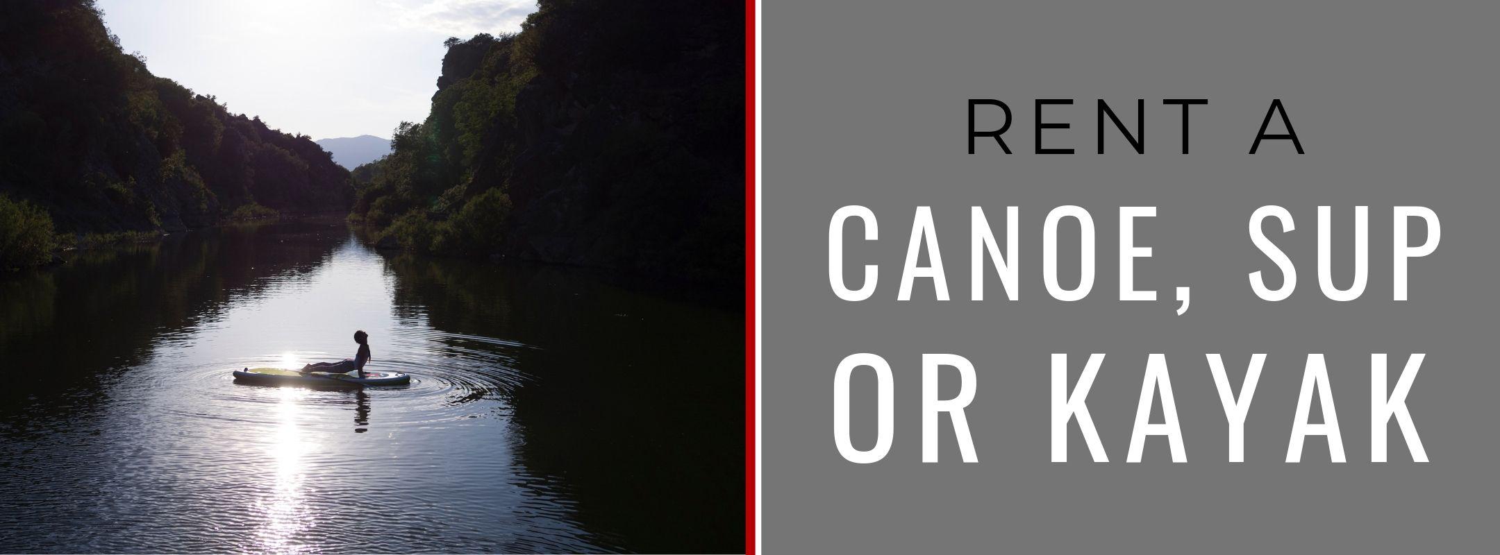 CANOE, KAYAK & PADDLE BOARD RENTALS