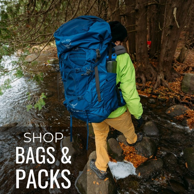 SHOP BAGS AND PACKS