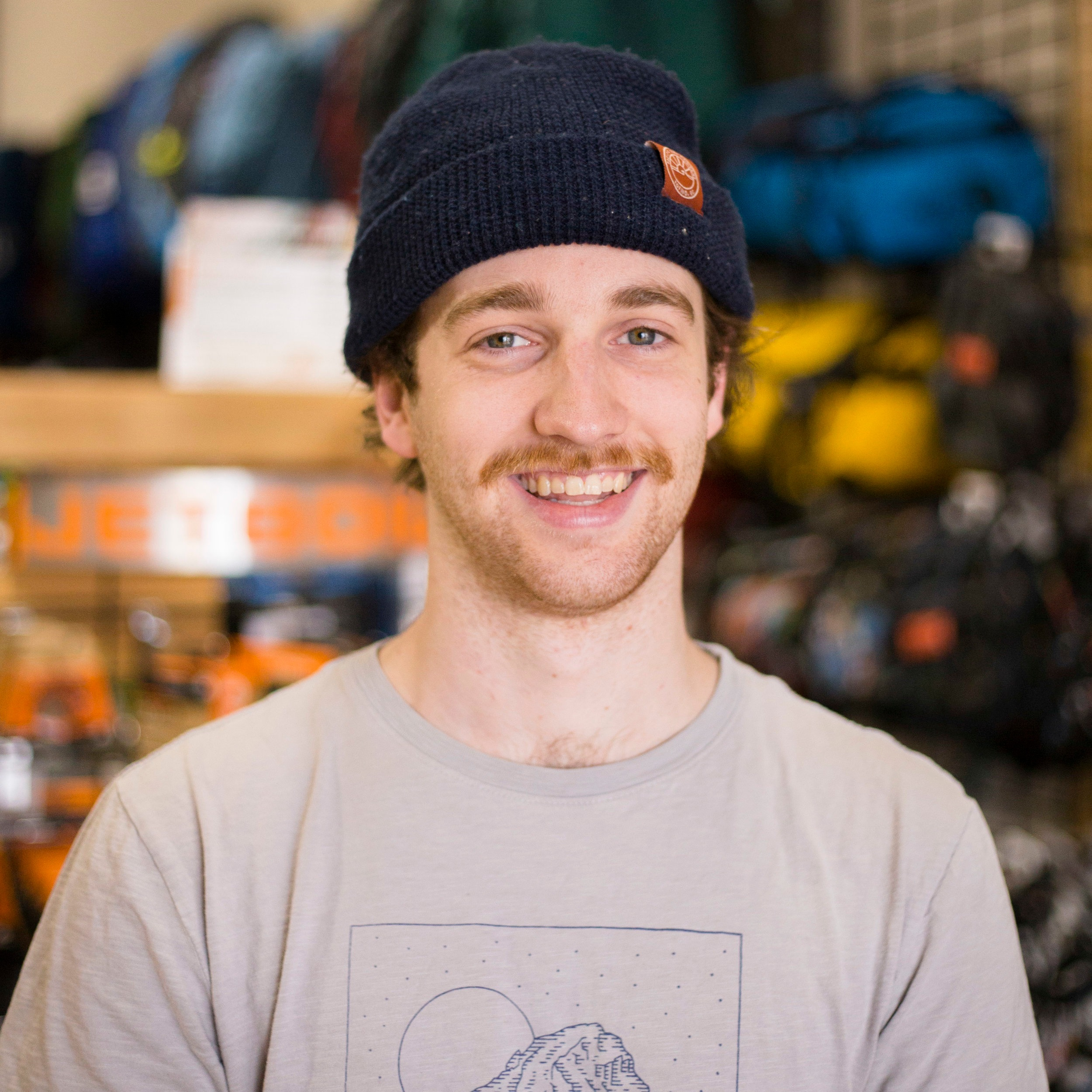 Justin Ross   Justin is the guy with the camera and social media savvy. You'll find him in the office, on the retail floor, answering your questions on  Instagram ,  Twitter  and  Facebook , and working the Wild Rock tent at many of our  community events .