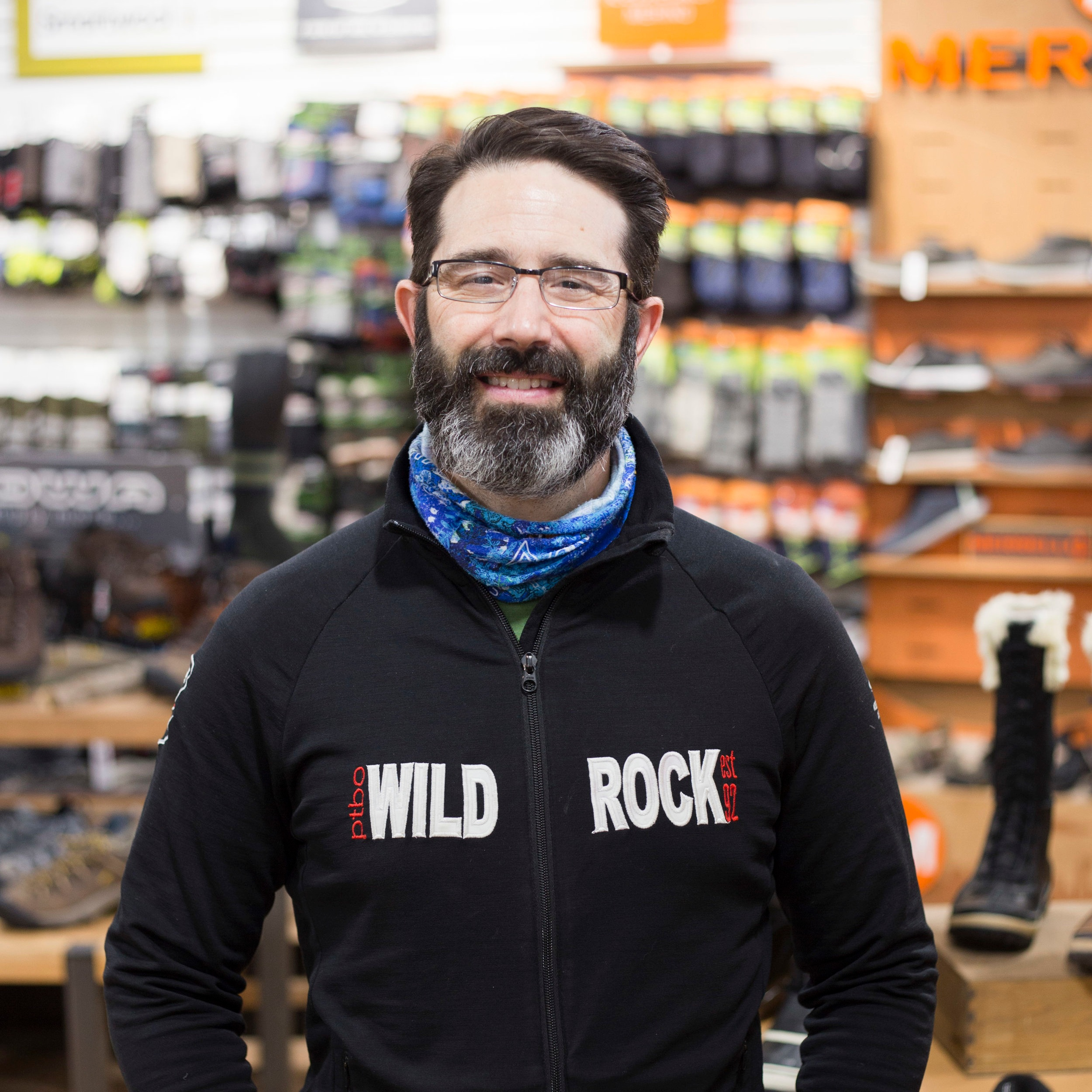 Jon Moreno   Jon has been a leading figure of the Wild Rock Team for 25 years. He is our Sales Floor Manager and has incredible knowledge of local parks and waterways. He is incredibly active in the cyclocross community and puts on our various film festivals as well.