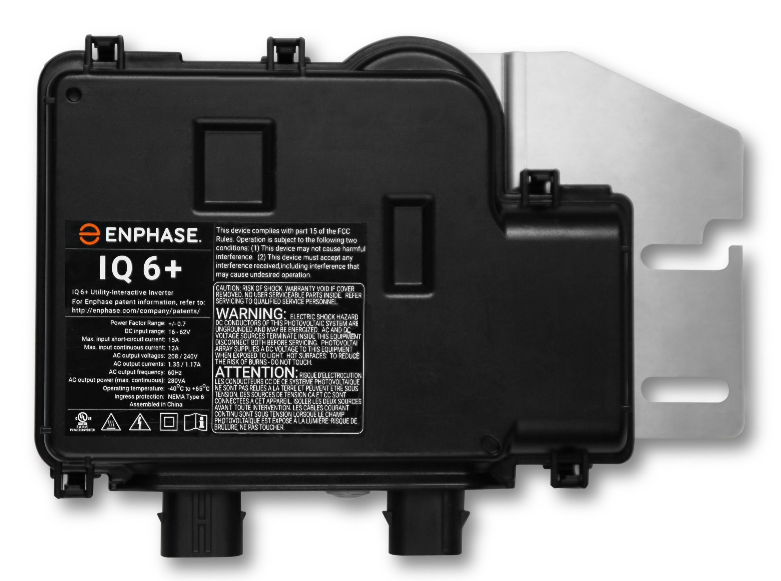 Pictured above is  Enphase's new IQ6 microinverter.