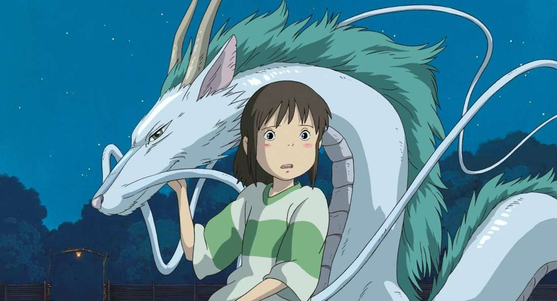 """Spirited Away"" lead Chihiro standing alongside the Kohaku River spirit."