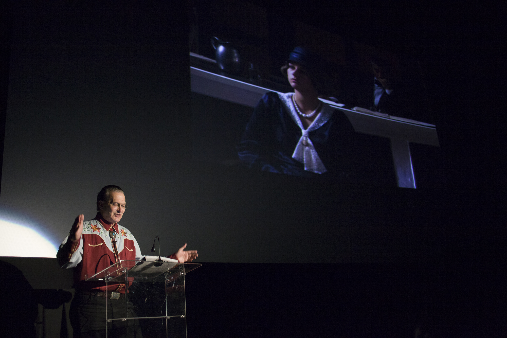 Joe Bob Briggs lecturing at the Chattanooga Film Festival. (Photo: David Andrews)