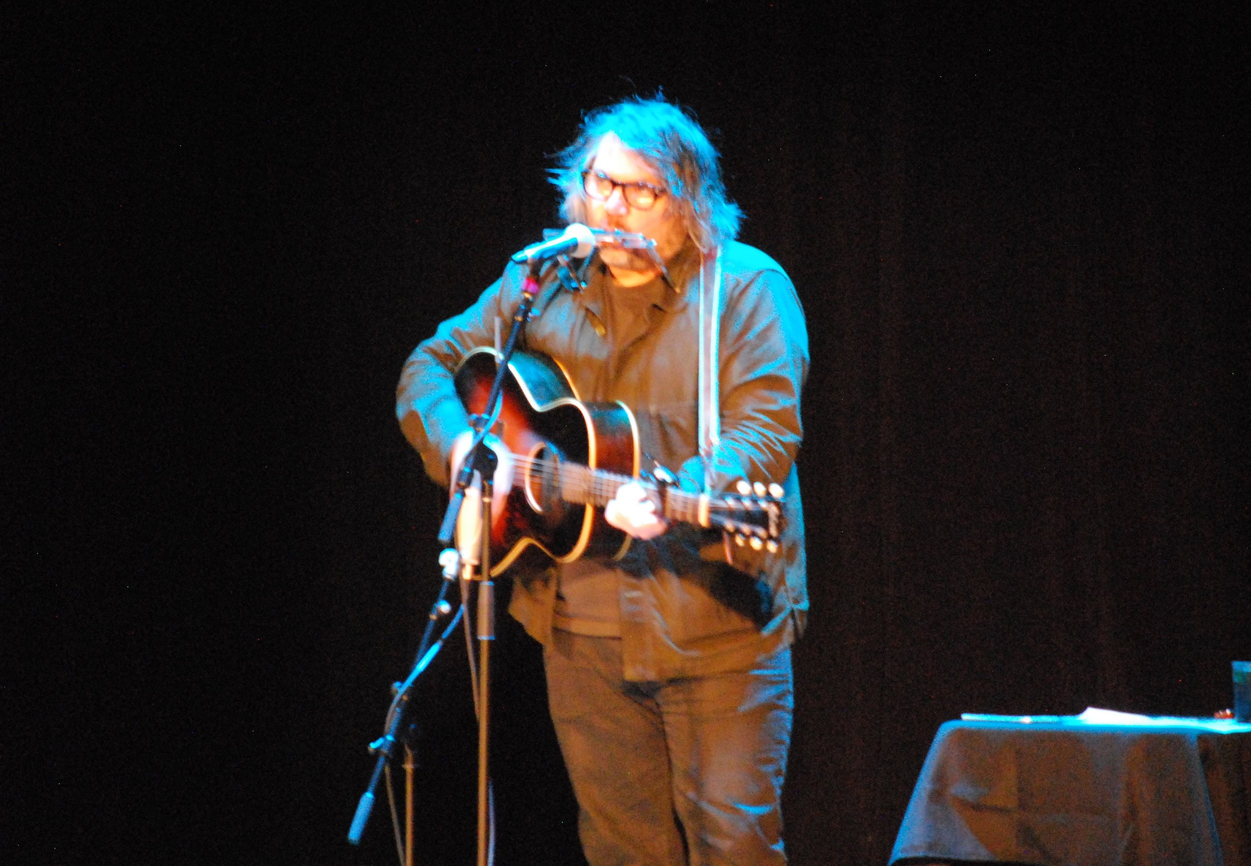 Jeff Tweedy at the Walker Theatre. (Photo: Jeremy Pickard)