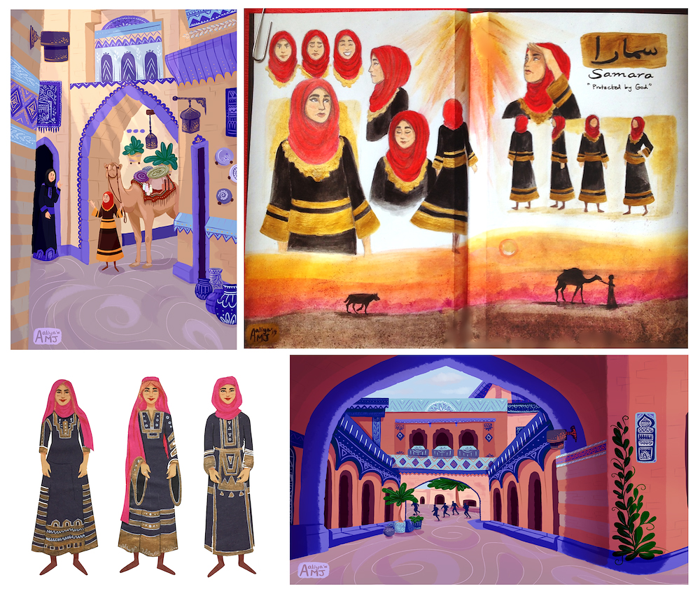 Little Red Riding Hood set in Arabia