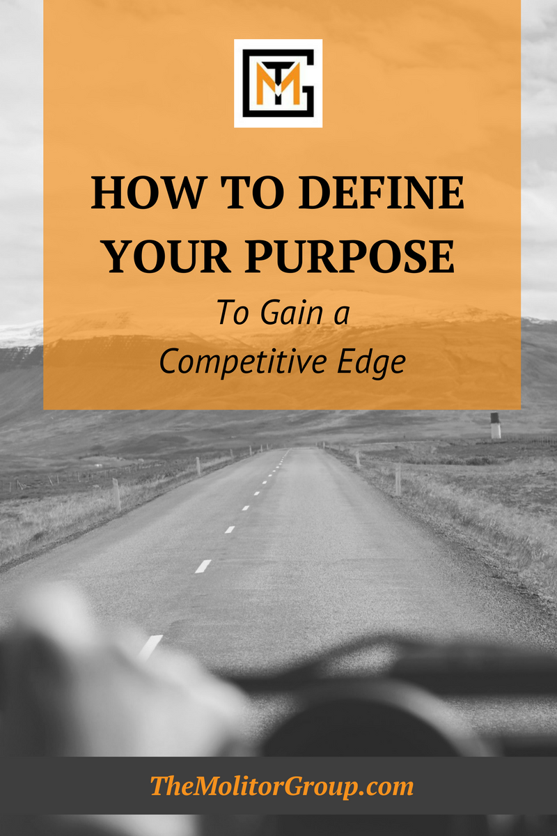 How To Define Your Purpose to Gain A Competitive Edge   Blog Post from The Molitor Group