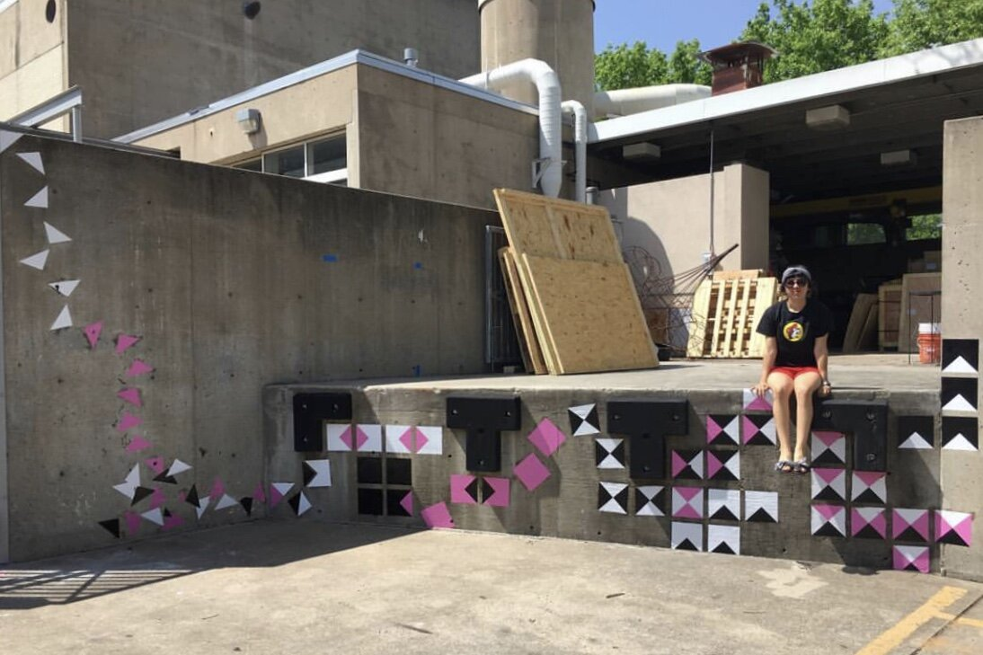 Arielle's very first art installation at Texas Christian University in Fort Worth.