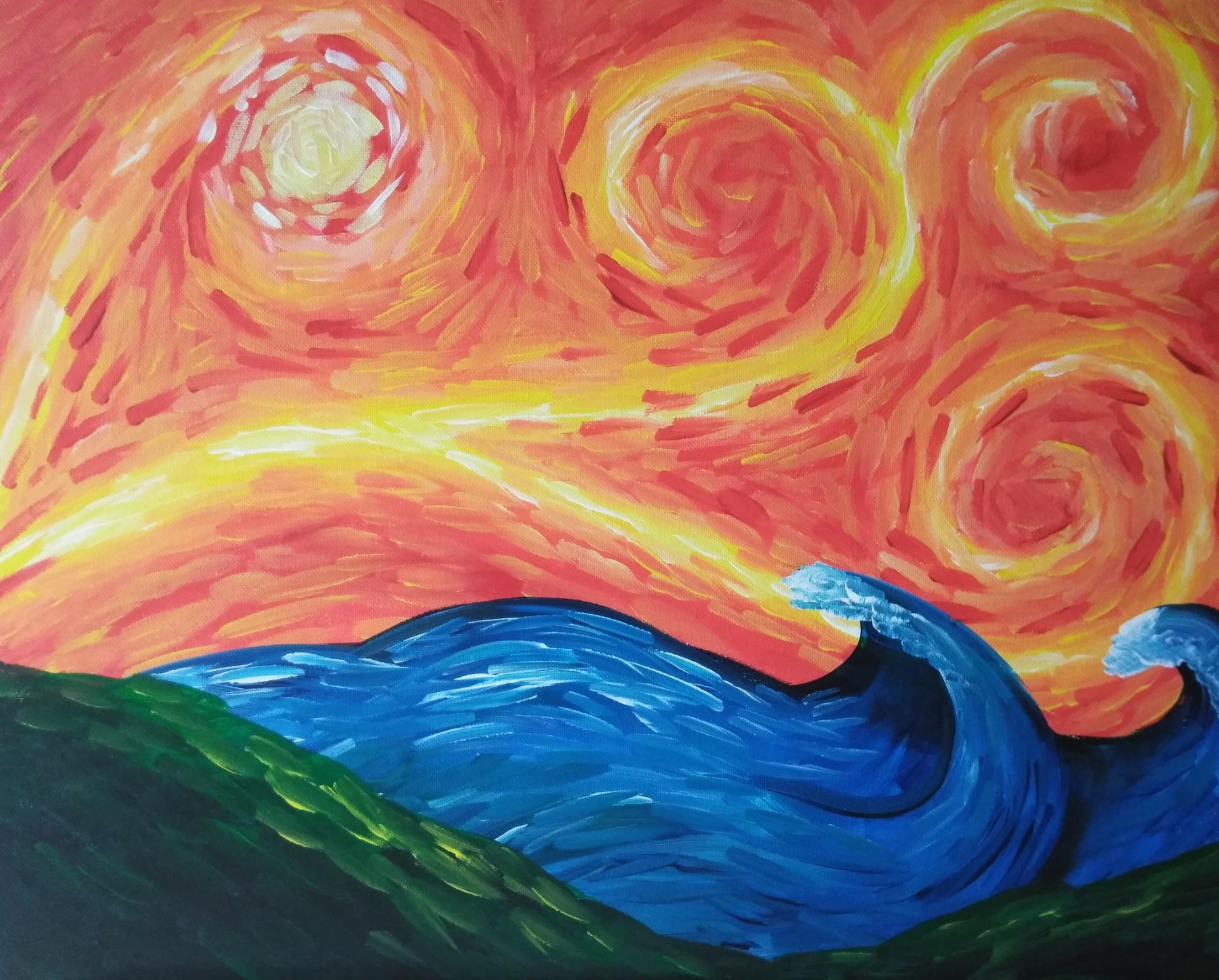 Swirly Sky and Sea