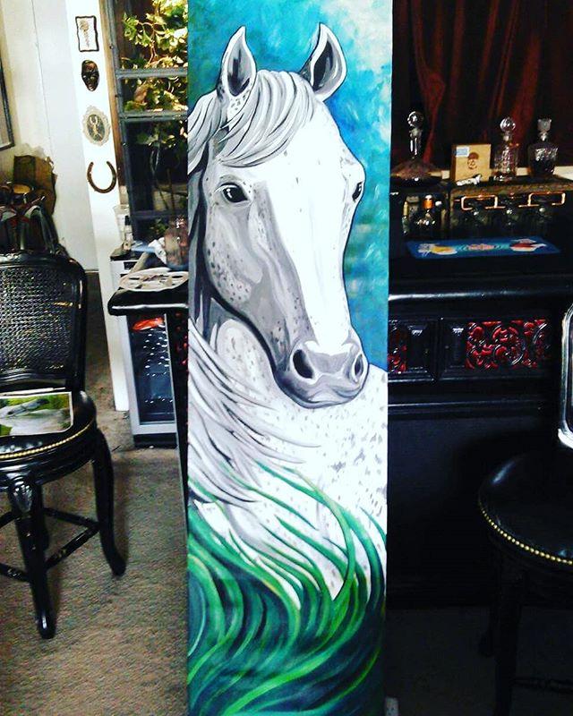 Custom art for a great friend! #horse #painting #paintparty #horseart #customart #localartist #localbusiness #orangecounty #huntingtonbeach #funart #paintandsip