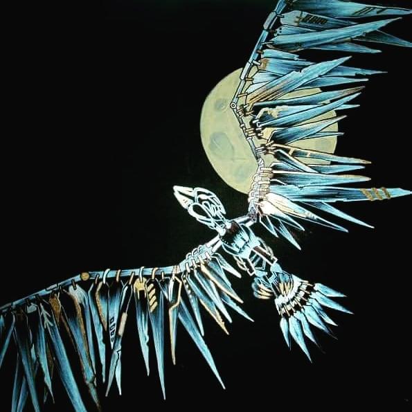 Something a little different #metal #bird #localartist #painting #lusciousbrush #orangecounty #huntingtonbeach #art