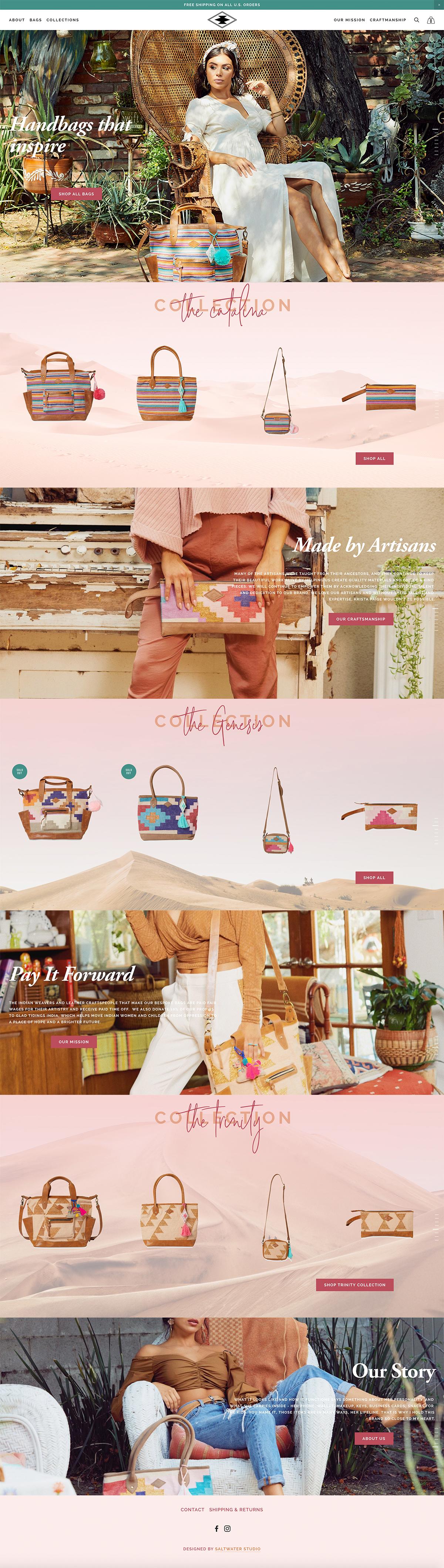 Boho Handbag Website Moroccan Inspired Website Design Boho Website