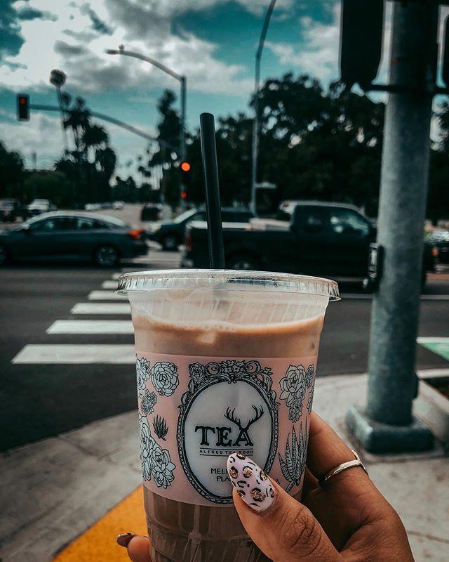 But first, oat milk chai latte.