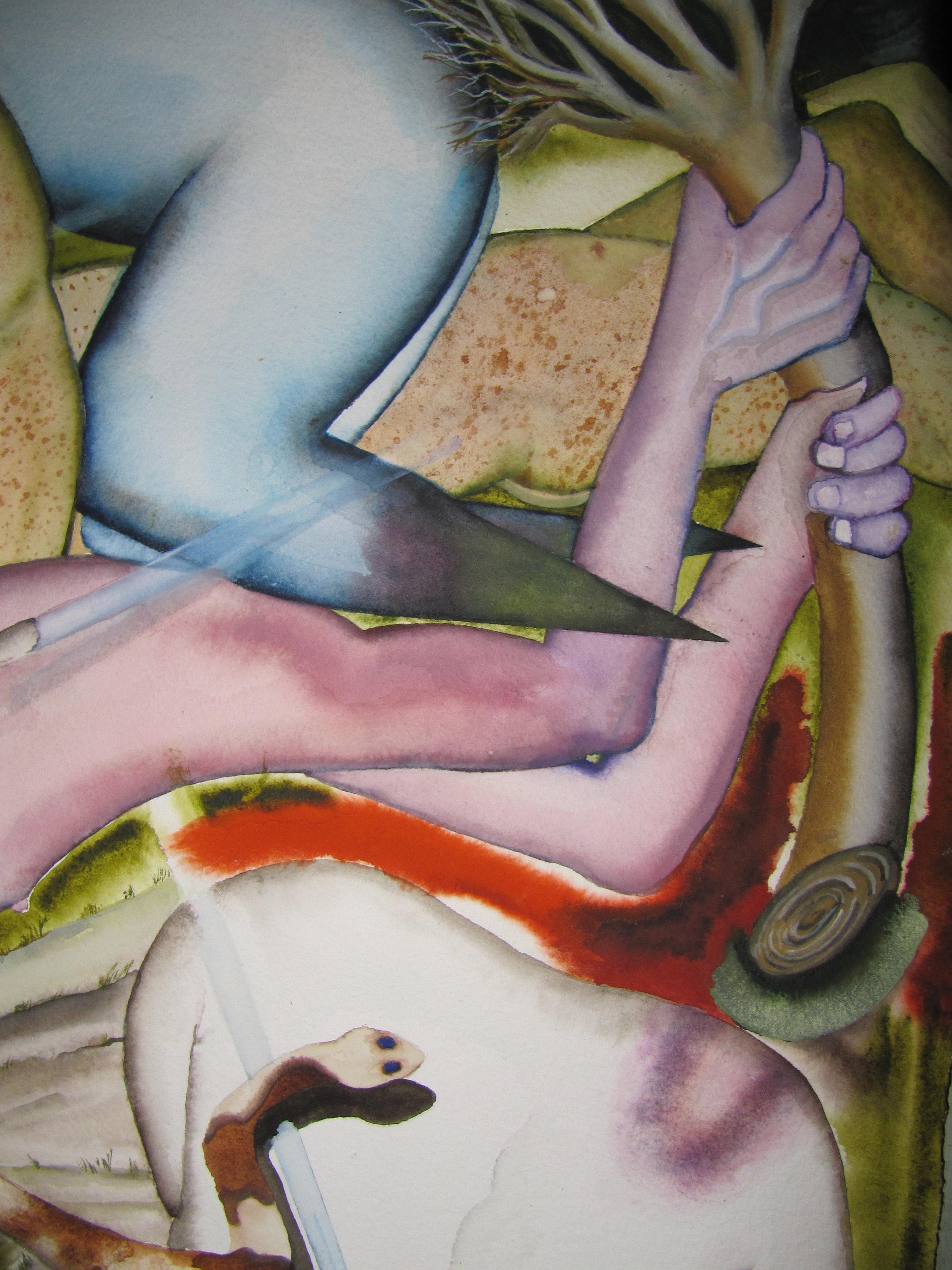 Detail, White man wounding white man