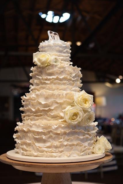 wedding - 4 tier cake with fondant ruffles.jpg