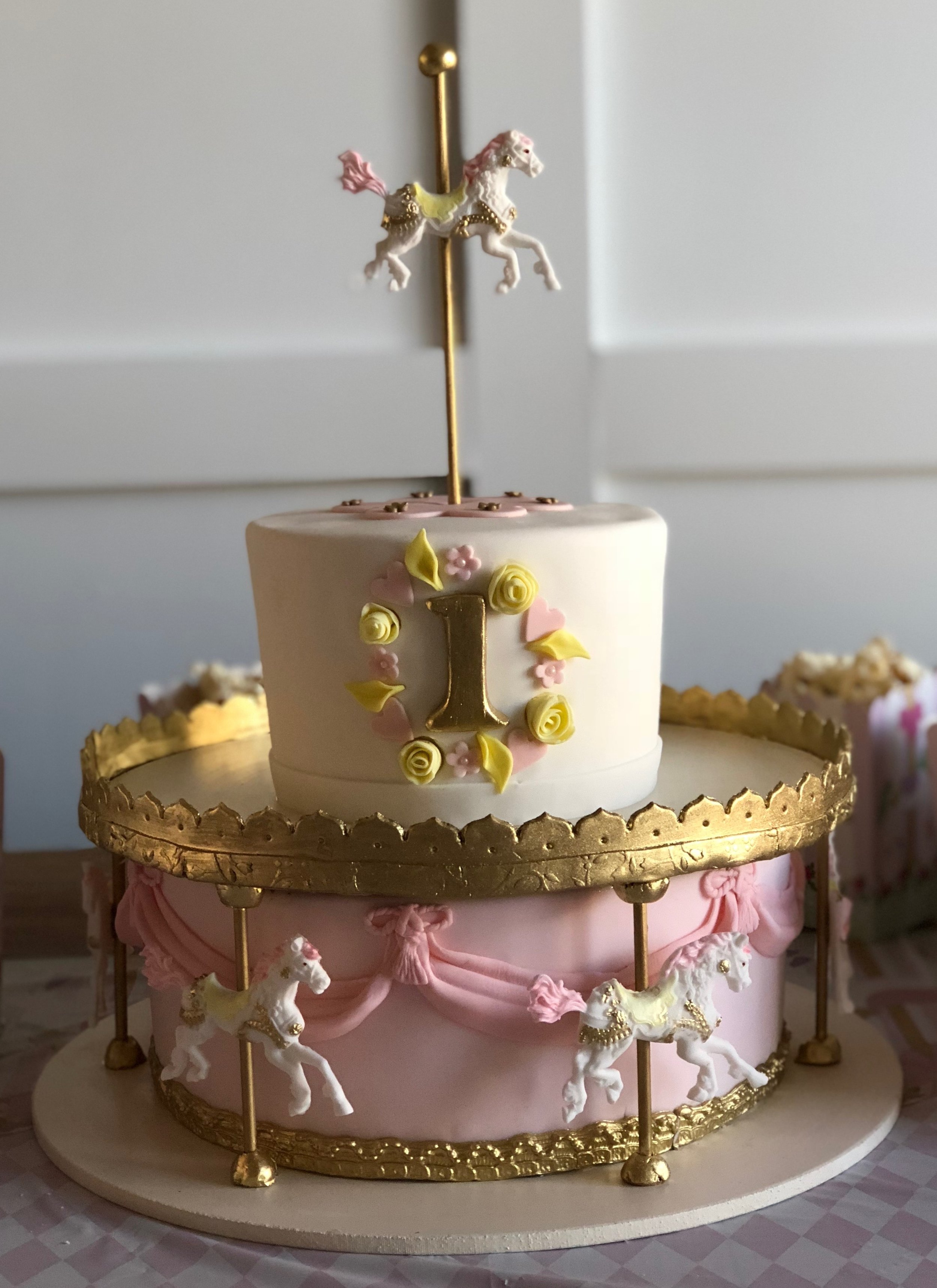 special occasion - daughters first birthday - Carousel Cake.jpeg