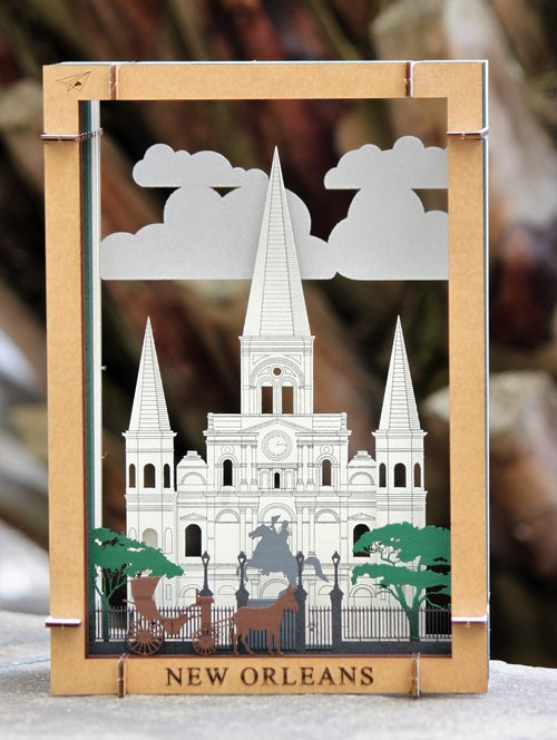 Papercrafts - 3D cardboard diorama kits inspired by our favorite New Orleans scenes.