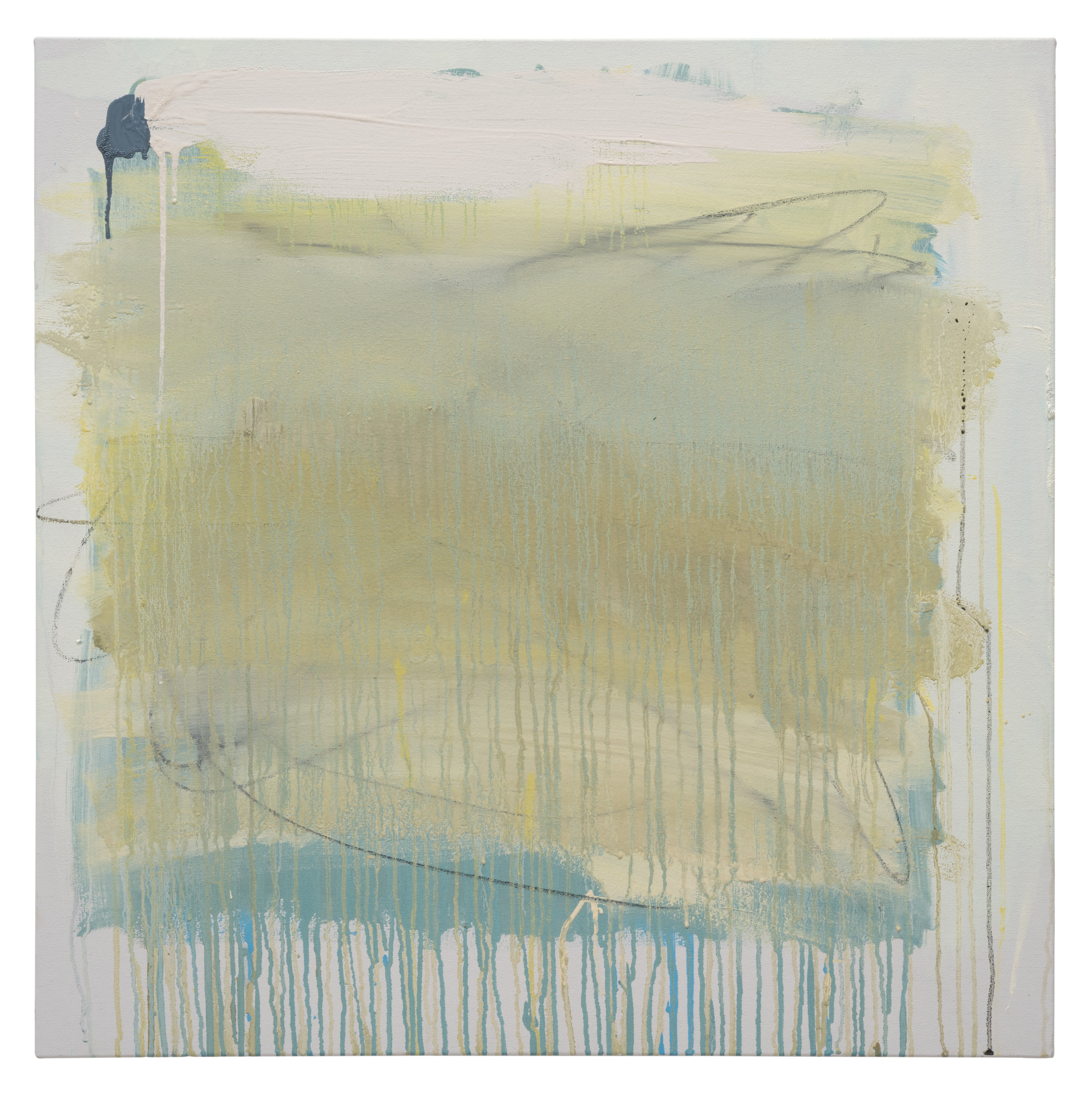 green square blue drip, oil on canvas, 30 x 30 in.jpg