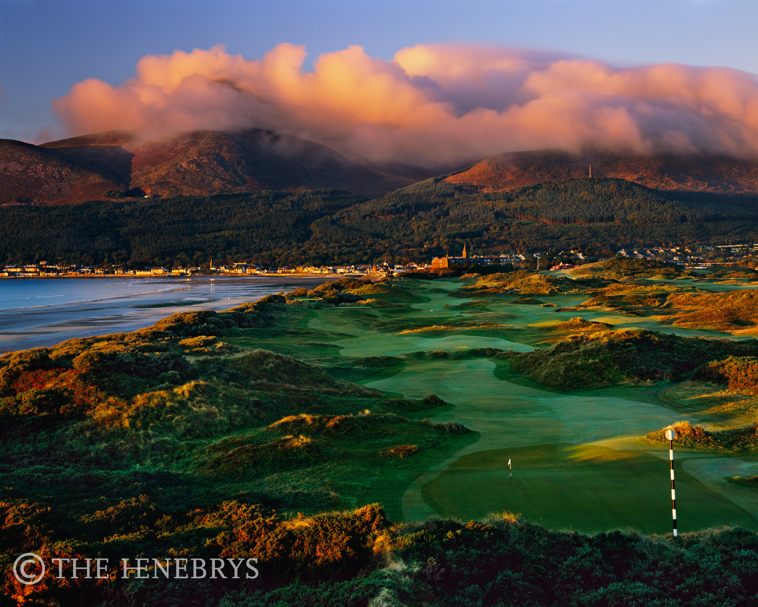 """""""A Glorious Morning"""" 3rd Royal County Down Golf Club, Newcastle Co. Down, Ireland"""