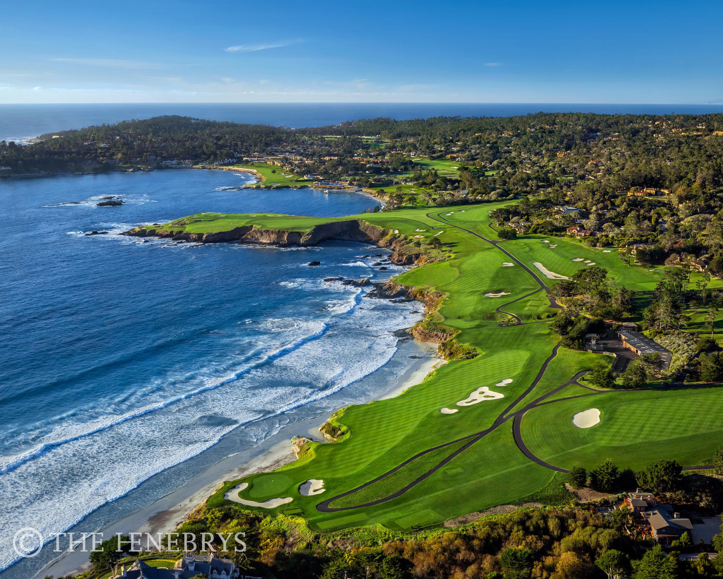 """""""On A Clear Day"""" Pebble Beach Golf Links®, California"""
