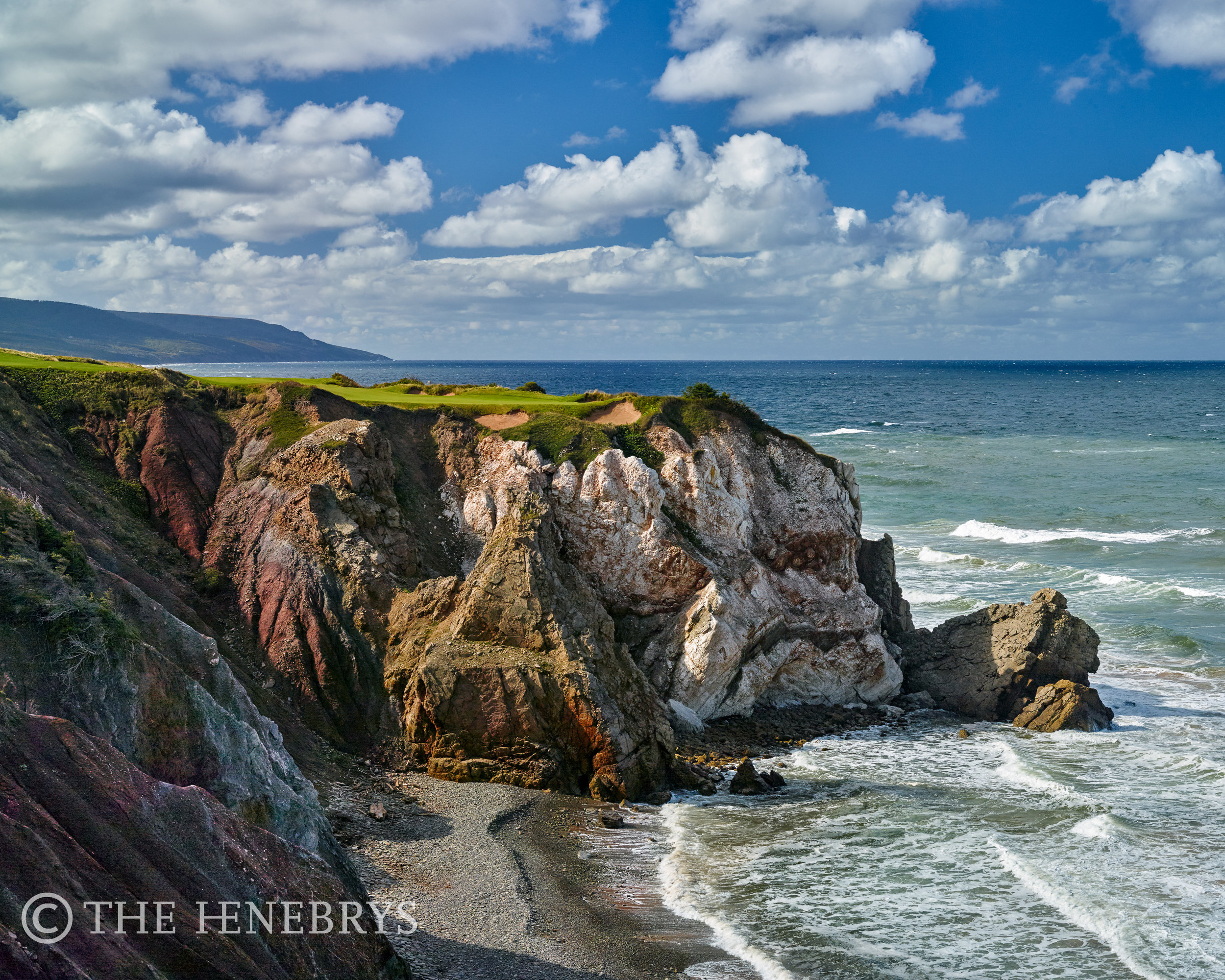 """""""Cliff Hanger"""" 16th Cabot Links, Inverness, NS Canada"""