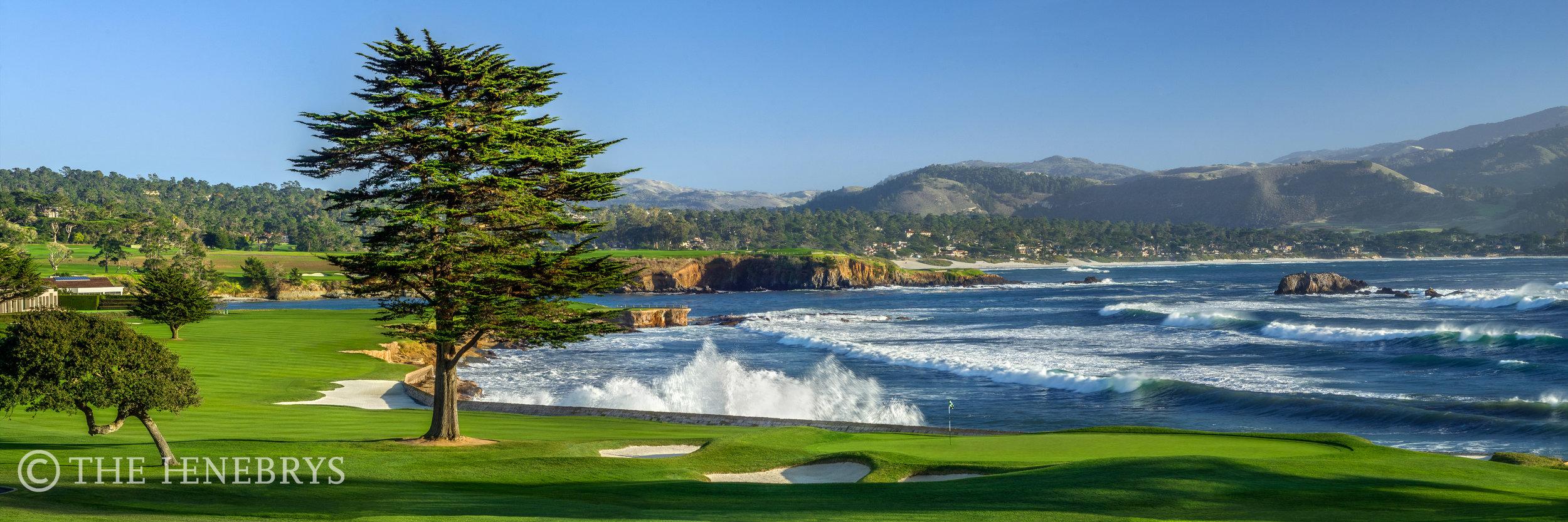 """December Swell"" 18th Pebble Beach Golf Links®, California"