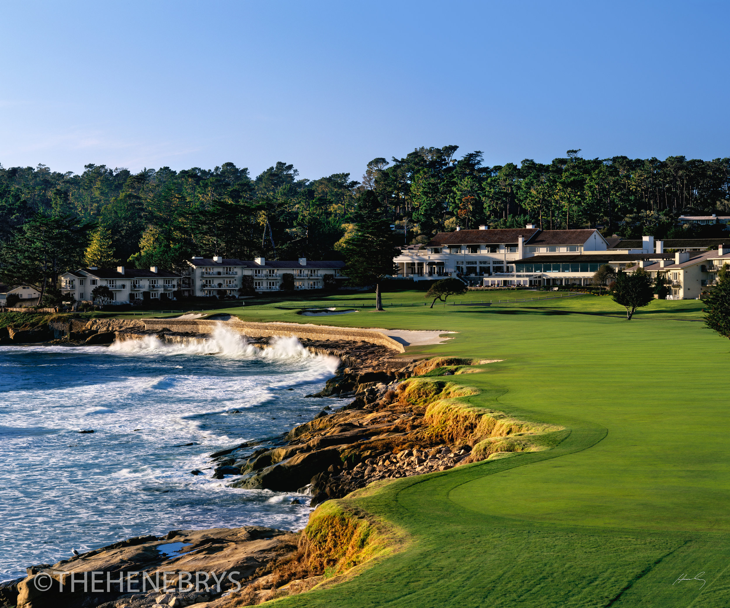 """""""The Carry"""" #18 Pebble Beach Golf Links®, California"""