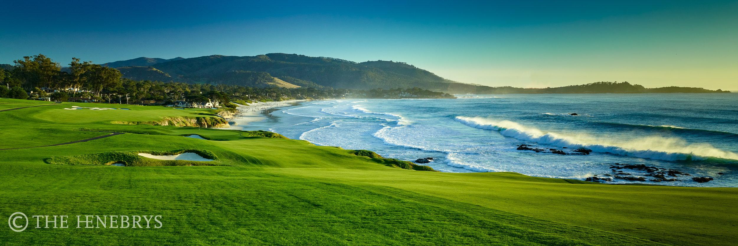 "Pebble Beach Golf Links® #09 ""Perfect Set"", Pebble Beach, California"
