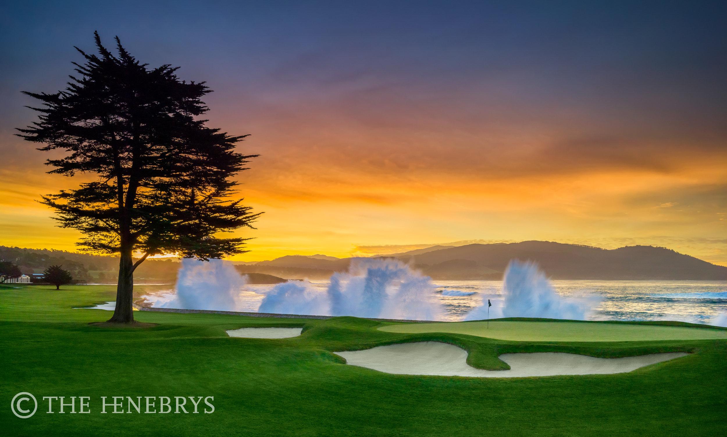 "Pebble Beach Golf Links® ""Sunrise Swell"" #18, Pebble Beach, California"