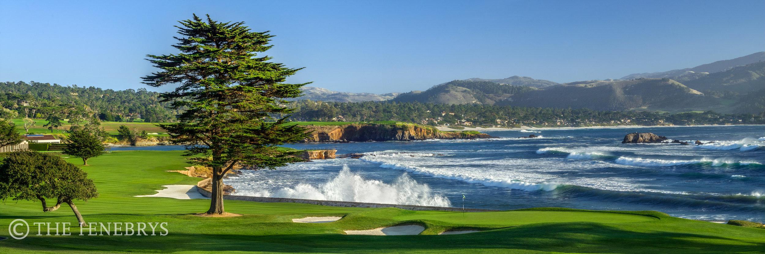 "Pebble Beach Golf Links® #18 ""December Swell"", Pebble Beach, California"