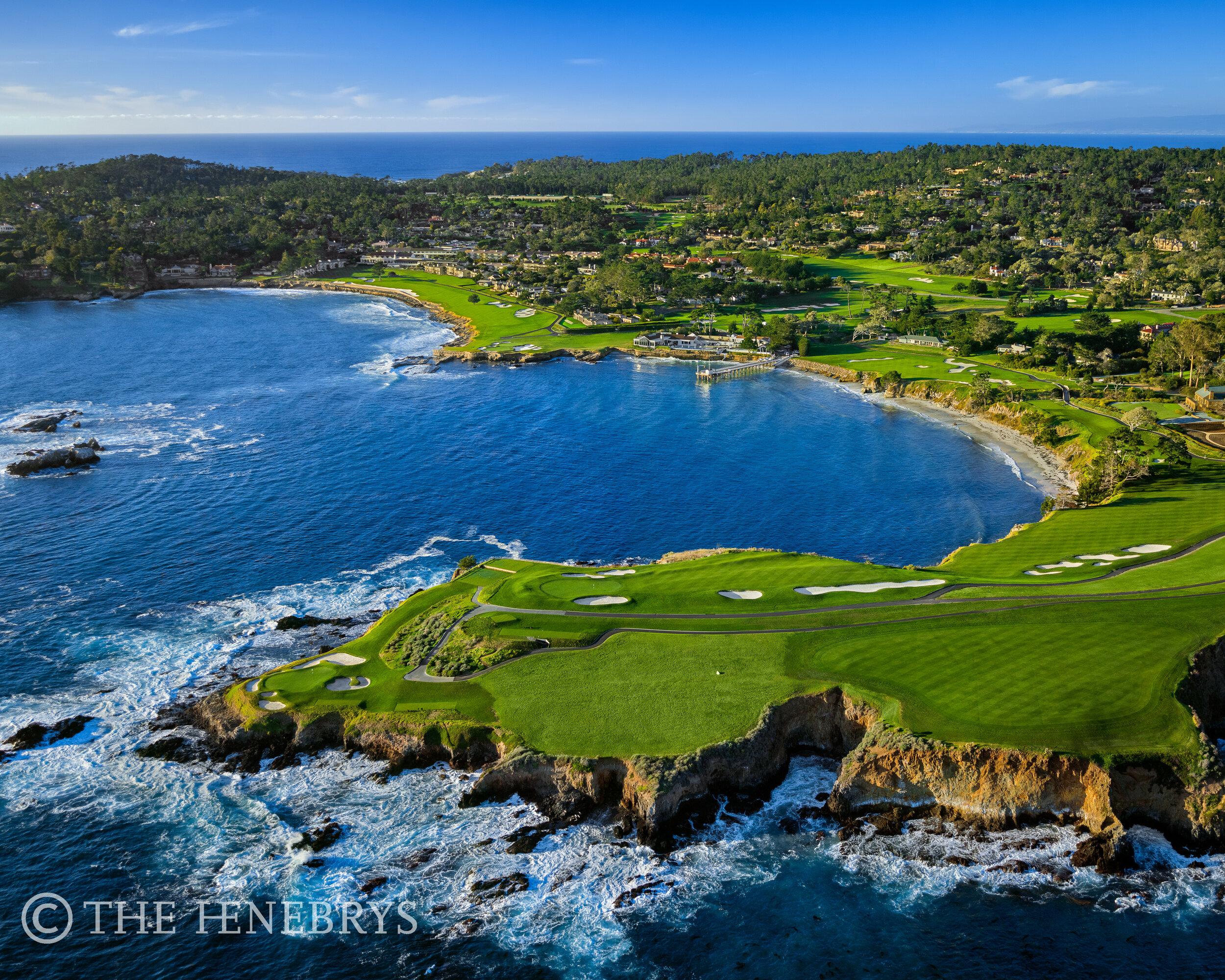 Pebble Beach Golf Links Aerial 07 08