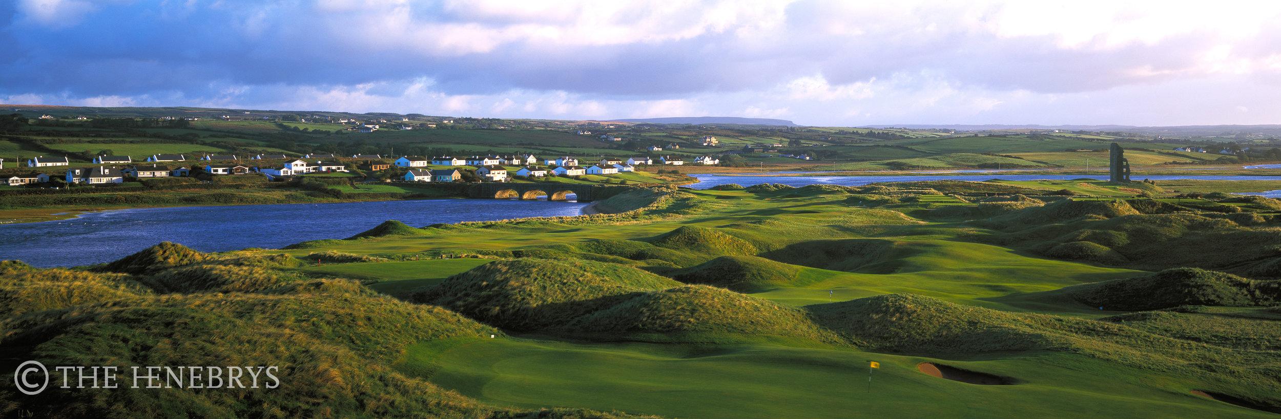 La Hinch Golf Club #10 Overview, La Hinch, Ireland