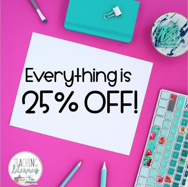 TODAY'S THE LAST DAY FOR THE SALE!  I have discounted every resource in my store (yes, even Bundles!) by 20%! Plus, If you use the promo code BTS19, TpT will give you an additional 5% off. WAHOO!  My store: bit.ly/TeachingLiteracy  Happy shopping!  #teachingliteracy #tpt #teacherspayteachers #tptsale #backtoschool #backtoschoolsale #teachersofinstagram #teachersfollowteachers #elementaryteachers #secondaryteachers #reading #books #middleschoolteachers #iteachtoo #teacherresources