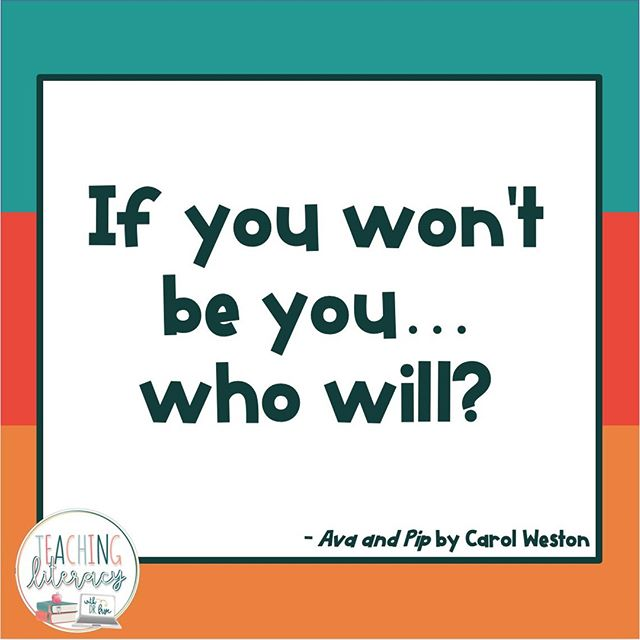 What's one thing that you do in your classroom to make sure students feel like they can be their authentic selves?  #teachingliteracy #teachersfollowteachers #teachersofinstagram #bookquotes #authenticity #teachertips #avaandpip #carolweston #studentvoice #students #student #classroomteacher #teachers #elementaryteachers #secondaryteachers 