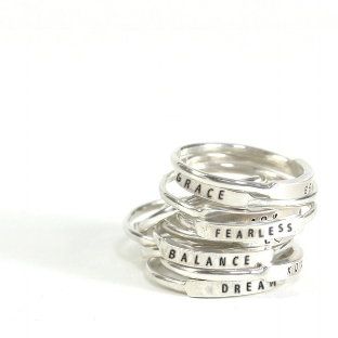 Christina Kober Rings - I have my kids names engraved on two of these, and I never take them off.