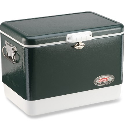 Coleman Steel Belted Cooler - In the Lowcountry... summer means beach and boat. You can never have too many coolers (according to Brian). I love the rustic look of this cooler.