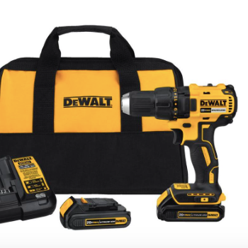 Dewalt 20-Volt Max Cordless Drill - Tools! Brian is a home-builder so... he is always in need of tools. This is his favorite brand and he has a wife that steals his drills to hang things at the shop. Ha!