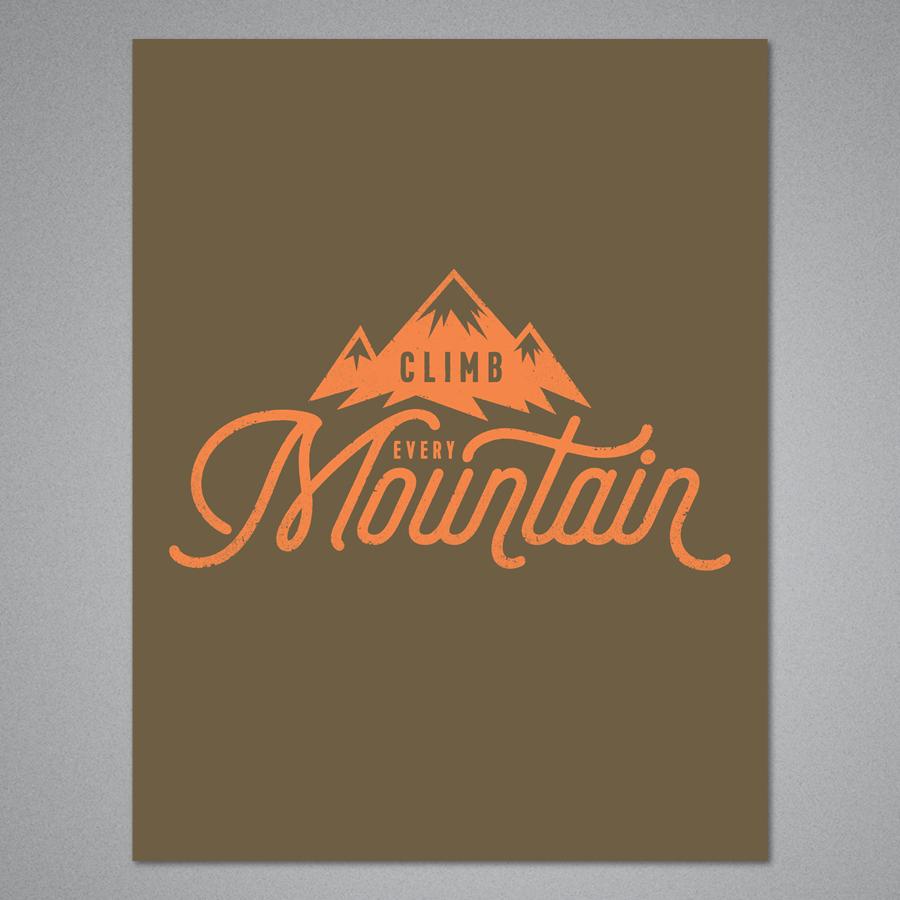 Climb Every Mountain Card